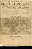 [Title page] Typus expeditionis nauticae Battavoru[m] in Javam, absolutae 1597