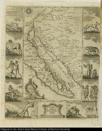 Mapa de la California su Golfo, y Provincias fronteras en el Continente de Nueva España.