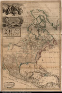 To his Sacred & most Exellent [sic] Majesty George ... This Map of North America ... is most humbly Dedicated ... by George Willdey