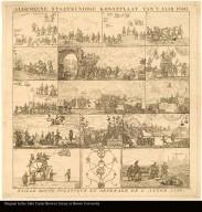 ALGEMEENE STAATKUNDIGE KONSTPLAAT VAN'T JAAR 1780. [above image] Taille douce politique et generale de l'année 1780 [below image]