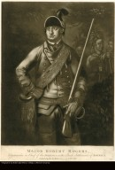MAJOR ROBERT ROGERS, Commander in Chief of the INDIANS in the Back Settlements of America.
