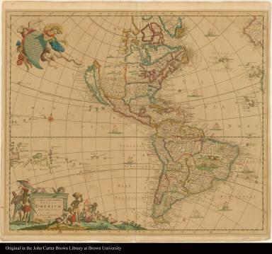 Novissima et Accuratissima Totius Americae Descriptio per I. Dankerts
