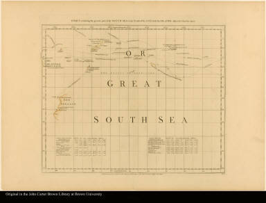 Sheet V. Chart containing the greater part of the South Sea to the south of the line, with islands dispersed thro' the same --