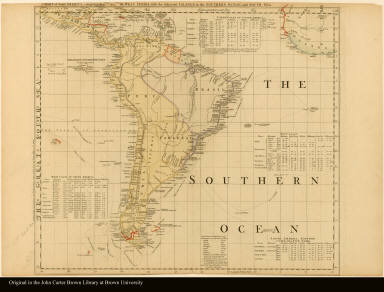 Sheet VI. Chart of South America, comprehending the West Indies, with the adjacent islands, in the Southern Ocean, and South Sea