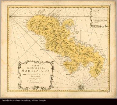 Carte de l'isle de la Martinique dressée par Mr. Bellin, ingénieur du Roy de France et de la Marine communiqué au public par les Hériteurs de Homann