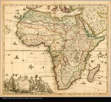 A new mapp of Africa divided into kingdoms and provinces