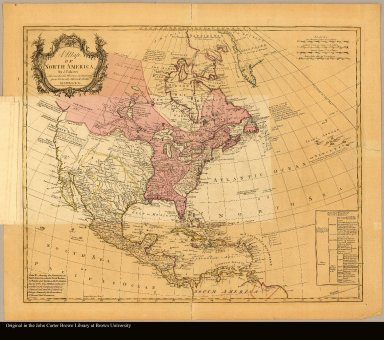 A map of North America by J. Palairet with considerable alterations & improvemts. from d'Anville, Mitchell & Bellin by L. Delarochettte
