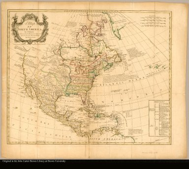 A map of North America by J. Palairet with considerable alterations & improvemts. from d'Anville, Mitchell & Bellin by L. Delarochette
