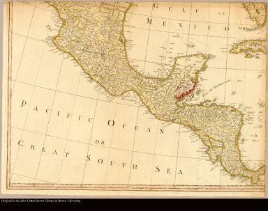 [Map of Central America]