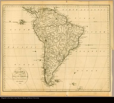A general map of South America drawn from the best surveys by J. Russell