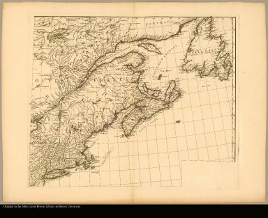 [Map of North America from the Saint Lawrence River to New York]