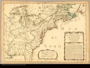 Carte du Canada et de la Louisiane qui forment la Nouvelle France et des colonies Angloises ou sont representez les pays contestez dressée sur les observations et sur plusieurs cartes particulieres et meme Angloises par J.B. Nolin géographe