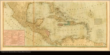 [bottom half] [Map of North America Florida to northern South America]
