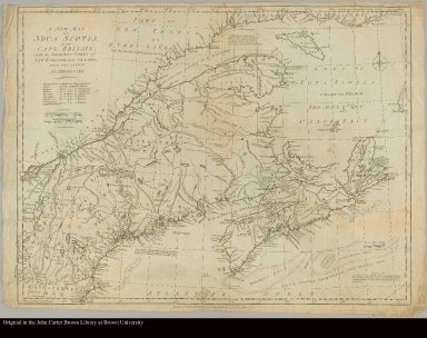A new map of Nova Scotia and Cape Britain [sic], with the adjacent parts of New England and Canada from the latest authorities