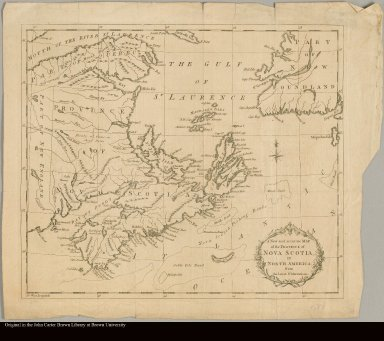 A new and accurate map of the province of Nova Scotia, in North America from the latest observations