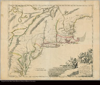 A map of New England, New Yorke, New Iersey, Mary-land & Virginia