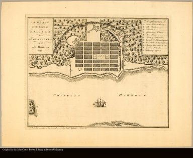 A plan of the town of Halifax, in Nova Scotia by M. Harris. 1749