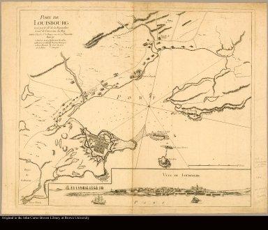 Port de Louisbourg levé par le Cher. de la Rigaudiere, Lieutnt. de Vaisseaux du Roy