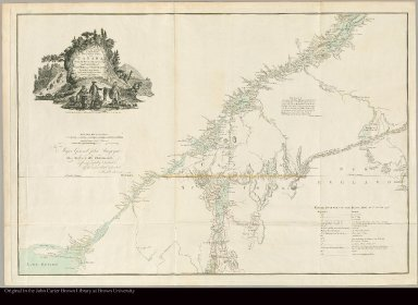 A map of the inhabited part of Canada from the French surveys, with the frontiers of New York and New England from the large survey by Claude Joseph Sauthier ; Engraved by Wm. Faden, 1777