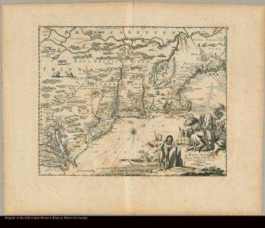 Novi Belgii Quod nunc Novi Jorck vocatur, Novae q3 Angliae & Partis Virginiae Accuratissima et Novissima Delineatio