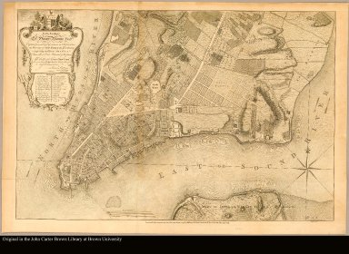 To His Excellency Sr. Henry Moore, Bart., captain general and governour in chief, in & over the Province of New York & the territories depending thereon in America, chancellor & vice admiral of the same. This plan of the city of New York, is most humbly inscribed /|cby ... Bernd. Ratzen