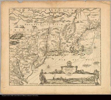 Novi Belgii Novaeque Angliae nec non Pennsylvaniae et partis Virginiae tabula multis in locis emendata a Iusto Danckers