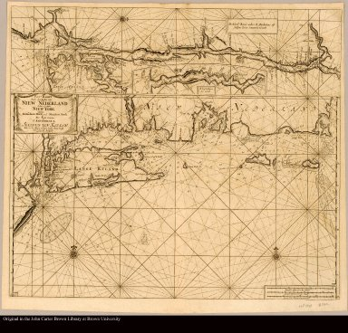 Pas-Kaart vande Zee Kusten van Niew Nederland anders genaamt Niew York tusschen Renselaars Hock en de Staaten Hoek door C.J. Vooght geometra