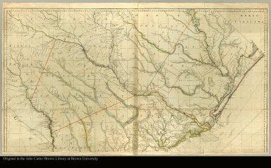 [top half of map of South Carolina and Georgia]