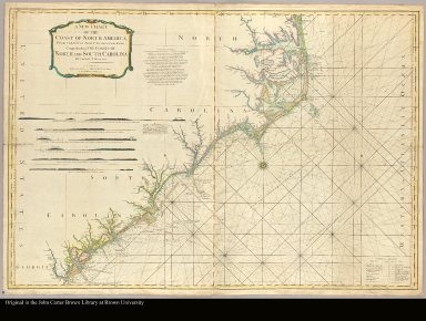 A new chart of the coast of North America from Currituck Inlet to Savannah River comprehending the coasts of North and South Carolina by Captain N. Holland