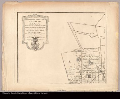 [upper left Plan of Mexico City]