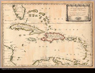 Les Isles Antilles &c. entre lesquelles sont les Lvcayes, et les Caribes Par N. Sanson d'Abbeville geogr. ordre. du Roy