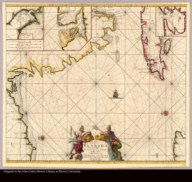 Pas kaart van de Boght van Florida Met de Canaal Tusschen Florida en Cuba door Vooght geometra ...