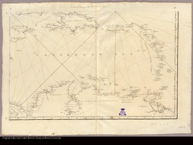[Lower right: Map of Caribbean islands from Hispaniola to northern South America]