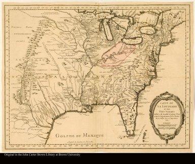 Carte de la Louisiane et des Pays Voisins
