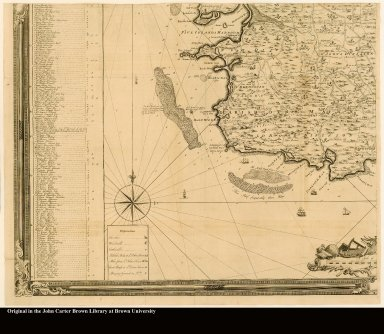 [lower left] [Southwest section of a map of Antigua]