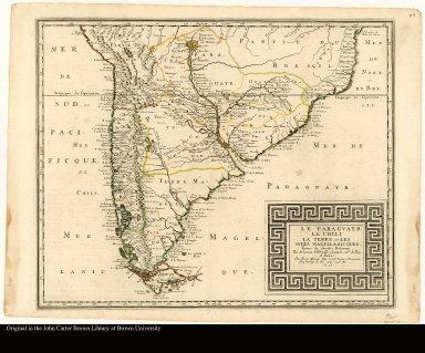 Le Paraguayr, le Chili, la Terre, et les Isles Magellanicques. Tirées de diverses rélations par N. Sanson d'Abbeville, géographe ordre. du Roy