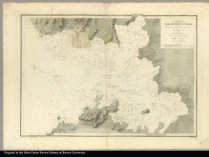 Mer des Antilles Ile de la Martinique Baie de Fort de France plan levé en 1824 par M.M. Monnier et Le Bourguignon-Duperré, ingénieurs hydrographiques. Dépôt Général de la Marine 1827