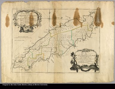 A new map of the island of Tobago shewing all the rocks, shoals and soundings Engraved from an actual survey by Thos. Kitchin