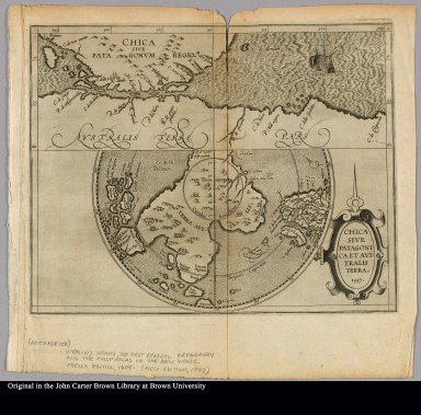 Chica sive Patagonica et Australis Terra. 1597.