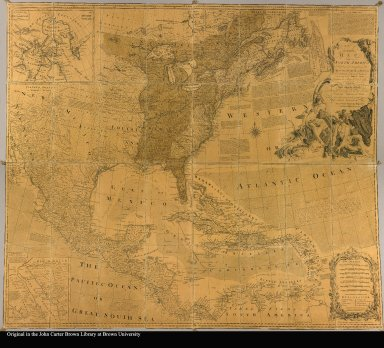 An accurate map of North America describing and distinguishing the British, Spanish and French dominions on this great continent ; according to the definitive treaty concluded at Paris 10th Feby. 1763: Also all the West India islands belonging to and possessed by the several European princes and states the whole laid down according to the latest and most authentick improvements by Eman Bowen geogr: to his majesty and John Gibson engraver