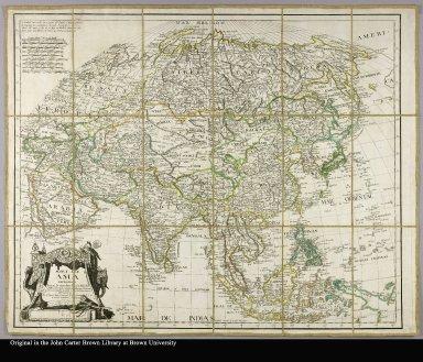 Mapa de Asia dividido segun la extension de sus estados formado con los mejores mapas y documentos nacionales, y sujecto à las observaciones astrónomicas