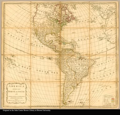 America divided into North and South with their several subdivisions and the newest discoveries
