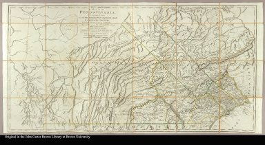 A map of Pennsylvania exhibiting not only the improved parts of that Province, but also its extensive frontiers [cartographic material] : Laid down from actual surveys and chiefly from the late map of W. Scull published in 1770