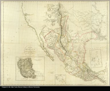 A new map of Mexico and adjacent provinces compiled from original documents by A. Arrowsmith
