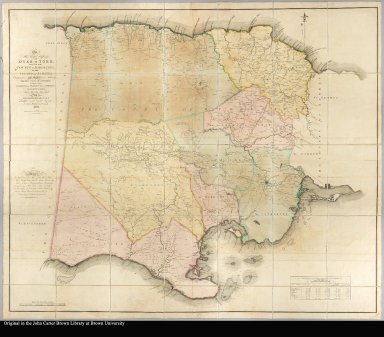 To His Royal Highness the Duke of York, this map of the County of Middlesex, in the island of Jamaica, const[ructed] from actual surveys, under the authority of the Hon. House of Assembly; by whom it hath been examined, and unanimously approved; is, with permission ... inscribed by ... James Robertson, A.M. 1804