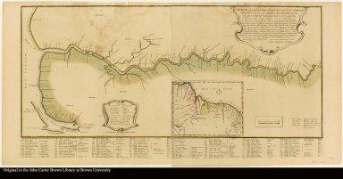 Carte van de rivier Demerary van ouds Immenary gelegen op Suyd Americaes noordkust ... 1759 ... Laurens Lodewyk Bercheyck