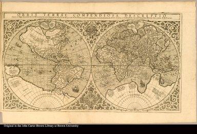 Orbis terrae compendiosa descriptio Quam ex Magna universali Gerardi Mercatoris Domino Richardo Gartho . . . MDLXXXVII