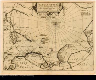 Tabula geogr. in qua admirande navigationis cursus et recursus designatur