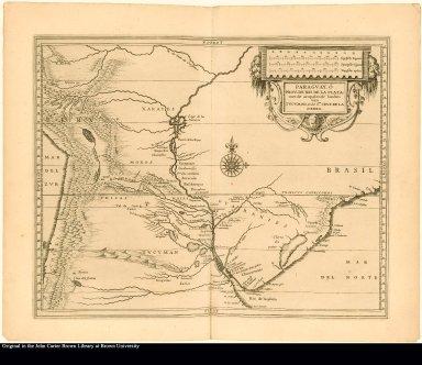 Paraguay, ó Prov. de Rio de la Plate: met de aenpalende landen van Tucuman, ende Sta. Cruz de la Sierra.