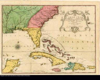 Carolinae Floridae nec non insularum Bahamensium cum partibus adjacendibus delineation